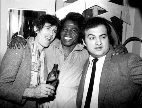 Keith Richards James Brown and John Belushi